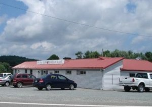 Mountain Surf Seafood Restaurant located across from Cool Breeze Campground