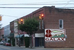 Downtown Galax, VA links to Visit Galax