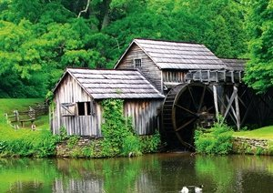 Mabry Mill photo linking to Virtual Blue Ridge website