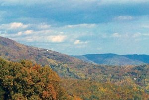 Awesome view of the Blue Ridge Mountains in the fall