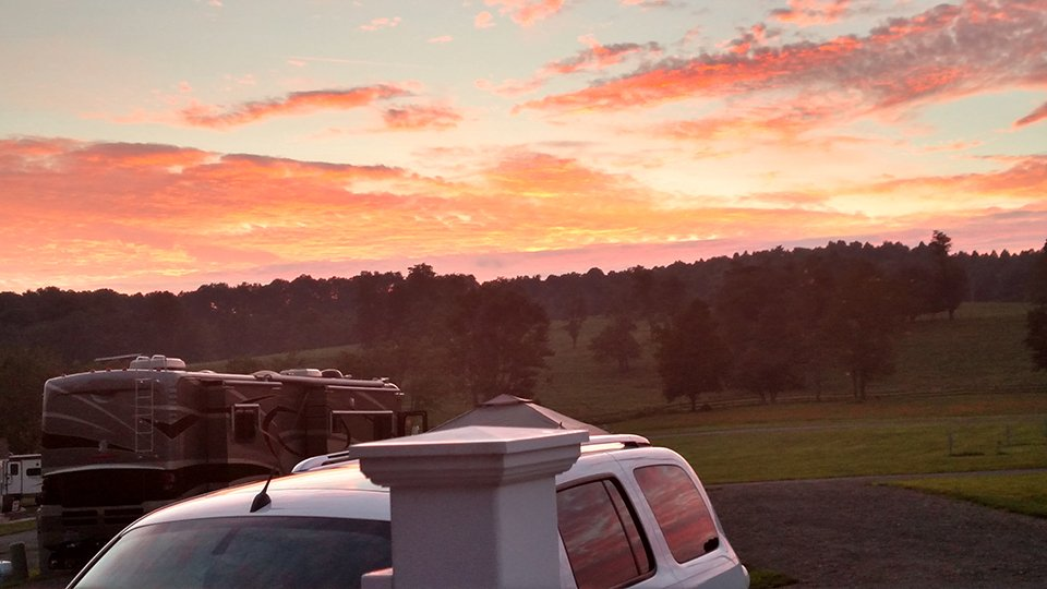 Sunset at Cool Breeze Campground