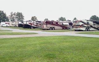 RVs at campsites