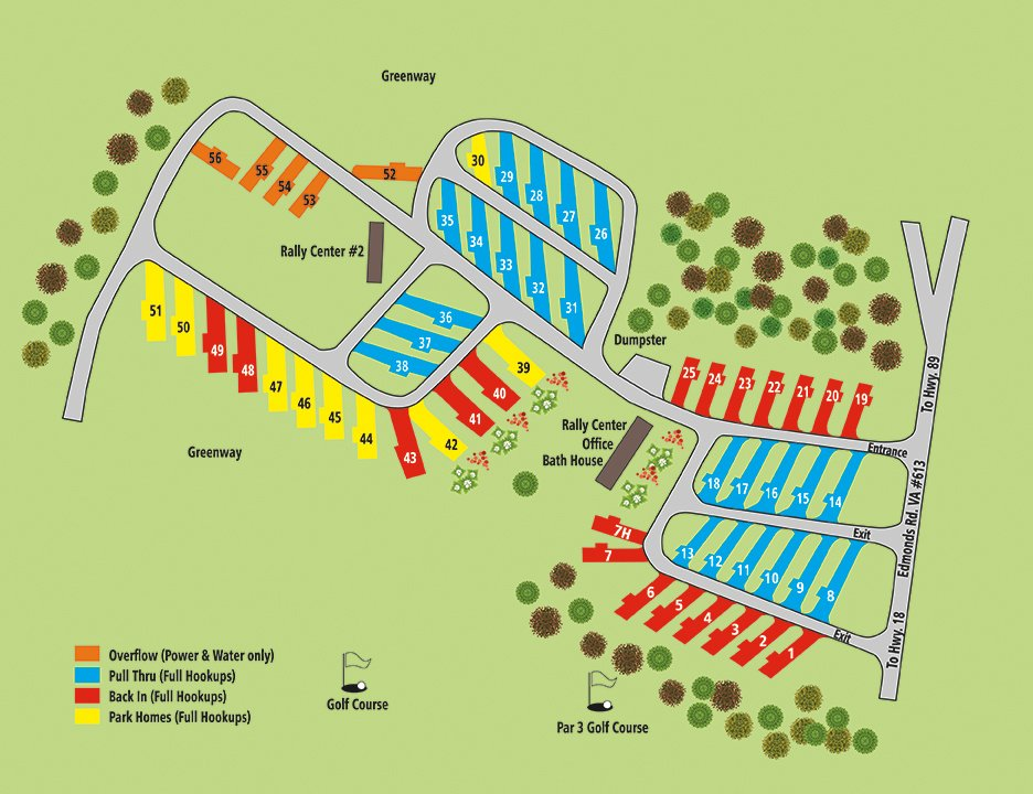 Cool Breeze Campground site map