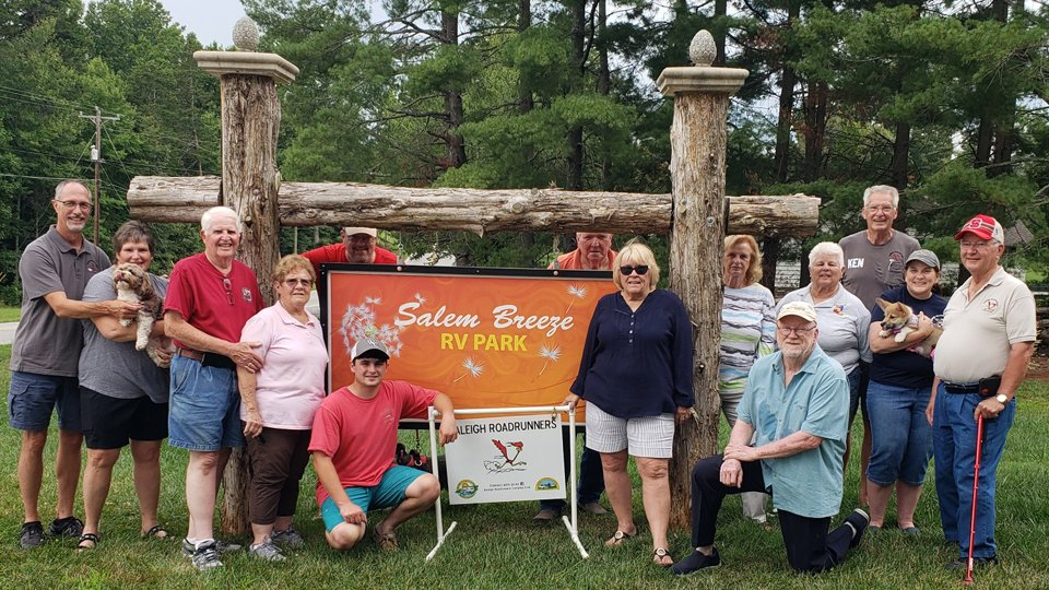 Salem Breeze Entrance with group of visitors 2021